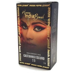 Henna Para Sobrancelha India Brasil Castanho Escuro