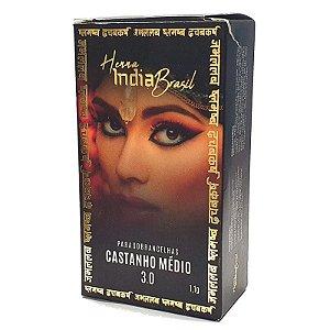 Henna Para Sobrancelha India Brasil Castanho Médio