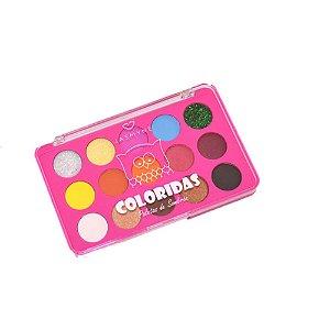 Paleta de Sombras Coloridas Jasmyne Cor B