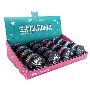Glitter Flocado Mia Make Extravasa Box B - Atacado 16 Unidades