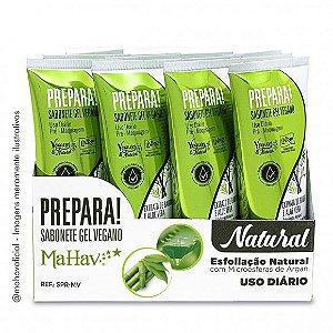 Sabonete Gel Vegano Prepara Pré-Maquiagem Mahav Atacado 12 Unidades