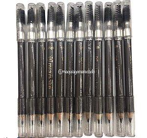 Lápis Para Sobrancelha Marrom Universal Com Escova Mia Make Atacado 12 Unidades