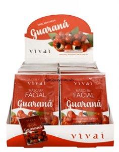 Máscara Facial Guaraná Vivai Atacado Box 48 Unidades