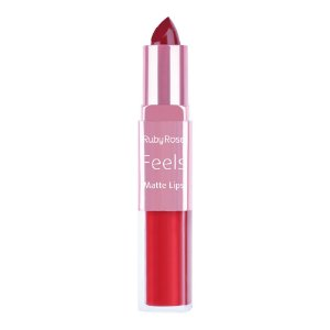 Batom Duo Matte Lips Feels Ruby Rose Cor 312