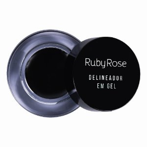 Delineador em Gel Black Ruby Rose HB8401
