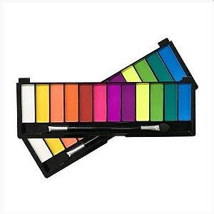 Paleta de Sombra 12 Cores Color Shock Pink 21 Cor 2 CS2754