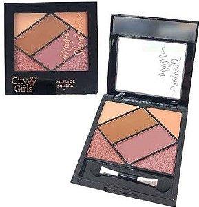Paleta de Sombra Magic Shadow City Girls Cor C CG158