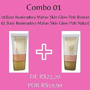 2 Bases Iluminadora Mahav Skin Glow