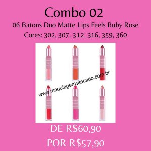 06 Batons Duo Matte Lips Feels Ruby Rose