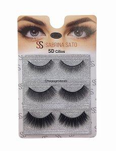 Cílios Postiços 03 Pares 5D Sabrina Sato SS1321 Modelo F018
