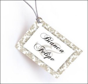 10 Tags Para Casamentos Com Nome Dos Noivos e Data