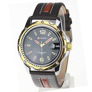 Relógio Masculino Curren Analógico 8104 PT