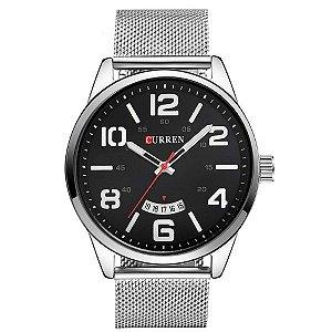 Relógio Masculino Curren Analógico 8236 PT-PR