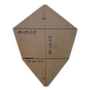 Forma Gabarito p/ Fazer Armação de Pipas Modelo Camarão Grande