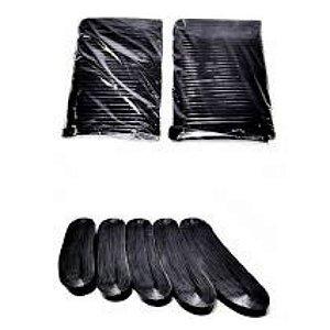 Fitas de Plástico Cortadas p/ rabiola de Pipa 25 cm Preta pct c/ 1 kg