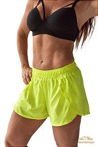 Short Feminino Boxer Amarelo Fluor