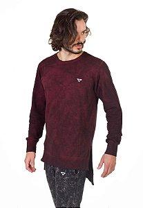 Blusa Longline Masculino Vinho