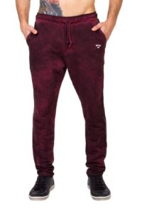 Calça Regular Fit Masculina Brohood Bordo