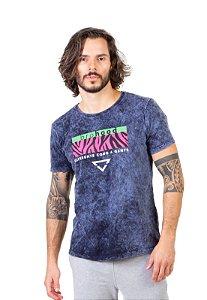 Camiseta Azul Stoned Print
