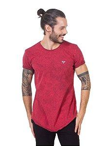 Camiseta Longline Curve Vermelho Fire