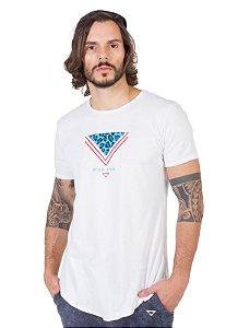 Camiseta Longline Curve Branca Wild Life