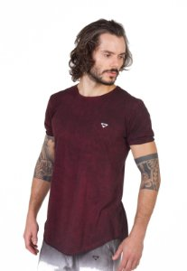 Camiseta Longline Curve Bordo Mix