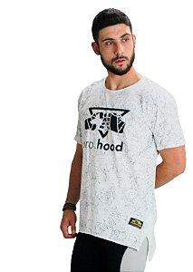 Camiseta Longline Silk Branca Teia