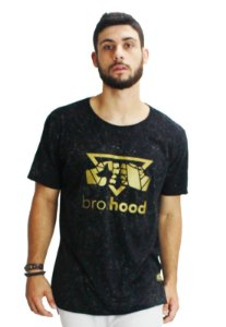 Camiseta Longline Silk Preta Teia