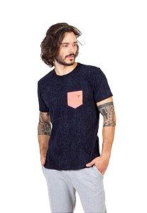 Camiseta Tshirt Bolso Azul Teia