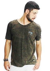 Camiseta Tshirt Silk Logo Castanho Inverse