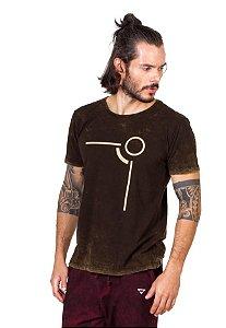Camiseta Tshirt Silk Look Castanho Inverse