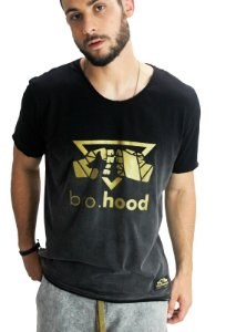 Camiseta Tshirt Silk Preta Degrade