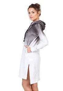 Vestido Moletom Branco JetSup Preto