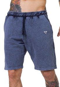 Bermuda Moletom Azul Jeans