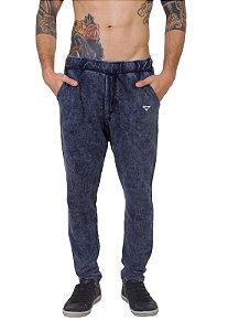 Calça de Moletom Jogger Azul Jeans
