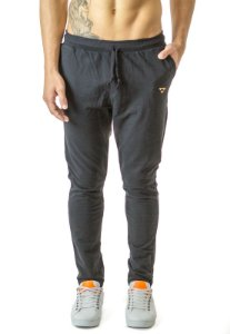 Calça Regular Fit Moletom Elastano Preto