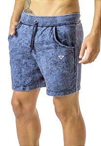 Shorts Moletom Azul Jeans