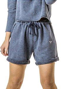 Shorts Moletom Oversize Azul Jeans