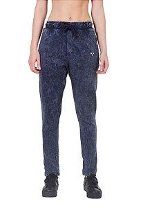 Calça de Moletom Regular Fit Azul Jeans