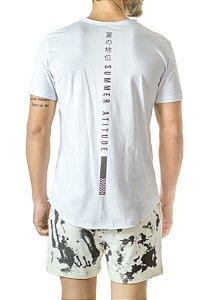 Camiseta Longline Curve Summer Branca