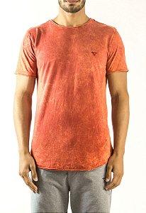 Camiseta Longline Curve Sky Vermelha