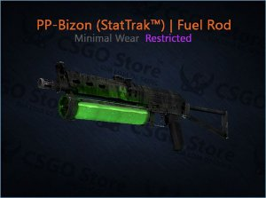 PP-Bizon (StatTrak™) | Fuel Rod (Minimal Wear)
