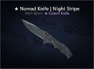 ★ Nomad Knife | Night Stripe (Well-Worn)