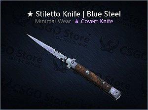 ★ Stiletto Knife | Blue Steel (Minimal Wear)