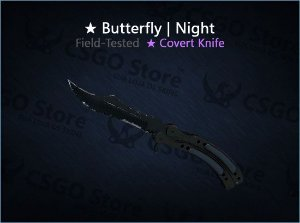 ★ Butterfly Knife | Night (Field-Tested)