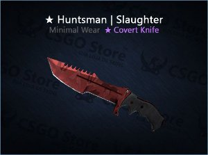 ★ Huntsman Knife | Slaughter 0.08 (Minimal Wear)