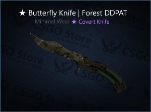 ★ Butterfly Knife | Forest DDPAT (Minimal Wear)
