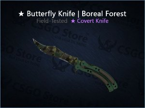 ★ Butterfly Knife | Boreal Forest (Field-Tested)