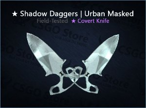 ★ Shadow Daggers | Urban Masked (Field-Tested)