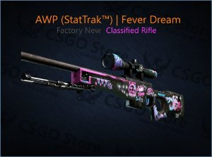 AWP (StatTrak™) | Fever Dream (Factory New)